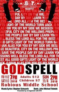 BLT Godspell poster