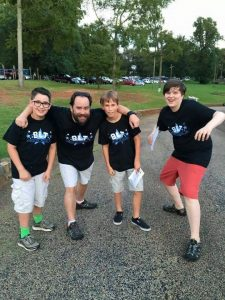 blt members with logo shirts